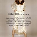 Take The Plunge editorial, Elle  UK