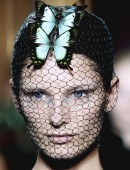 A model presents a creation by Italian designer Giambattista Valli as part of his Haute Couture Fall/Winter 2012-2013 fashion show in Paris